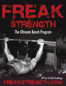 FreakStrength - The Ultimate Bench Program